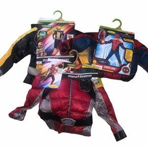 Boys dress up super hero costumes